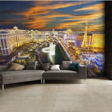 Las Vegas skyline wall mural wallpaper